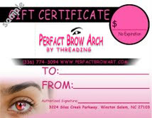 Eyebrow Threading Punch Cards